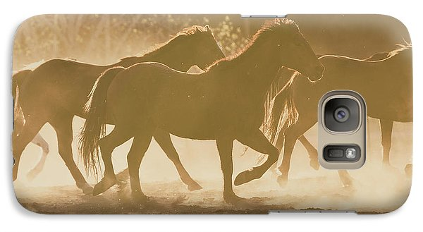 Galaxy S7 Case featuring the photograph Horses And Dust by Ana V Ramirez