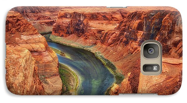 Galaxy Case featuring the photograph Horseshoe Bend Arizona - Colorado River #2 by Jennifer Rondinelli Reilly - Fine Art Photography