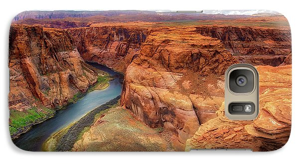 Galaxy Case featuring the photograph Horseshoe Bend Arizona - Colorado River $4 by Jennifer Rondinelli Reilly - Fine Art Photography