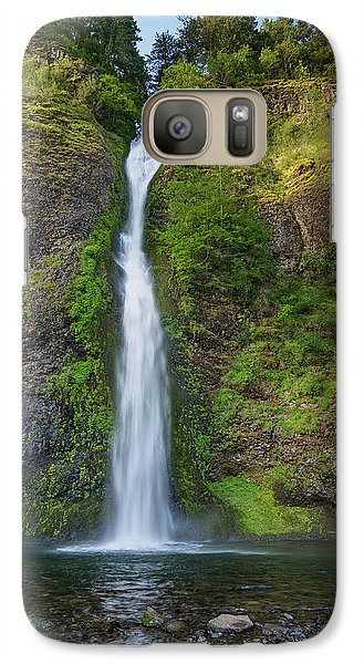 Galaxy Case featuring the photograph Horsetail Falls In Spring by Greg Nyquist
