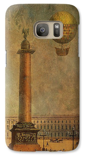 Galaxy Case featuring the digital art Hot Air Balloon Over St Petersburg And The Hermitage by Jeff Burgess