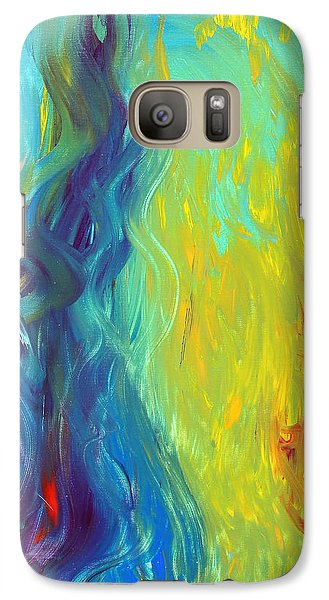 Galaxy Case featuring the painting Hot And Cold by Lola Connelly