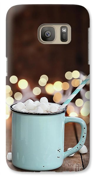 Galaxy Case featuring the photograph Hot Cocoa With Mini Marshmallows by Stephanie Frey