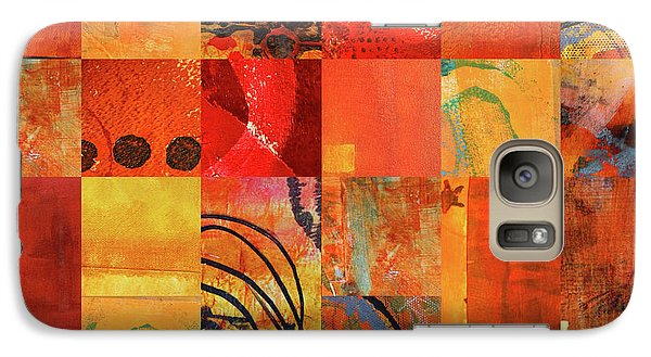 Galaxy S7 Case featuring the painting Hot Color Play by Nancy Merkle