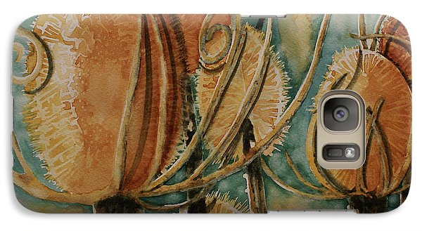 Galaxy Case featuring the painting Hot Desert Sun by Cynthia Powell