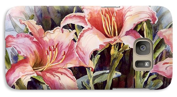Galaxy Case featuring the painting Hot Lillies by Roxanne Tobaison