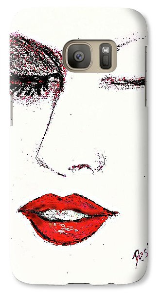 Galaxy Case featuring the pastel Hot Lips by Desline Vitto