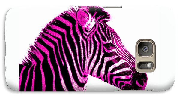 Hot Pink Zebra Galaxy Case by Rebecca Margraf