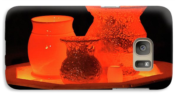 Galaxy Case featuring the photograph Hot Pots by Skip Willits