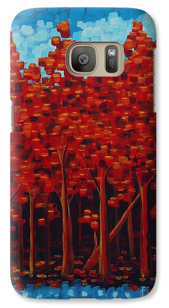 Galaxy Case featuring the painting Hot Reds by Holly Carmichael