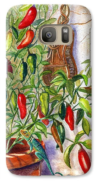 Galaxy Case featuring the painting Hot Sauce On The Vine by Marilyn Smith