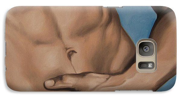 Galaxy Case featuring the painting Hot Touch by Jindra Noewi