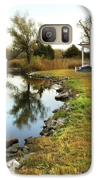 Galaxy Case featuring the photograph House By The Edge Of The Lake by Jill Battaglia