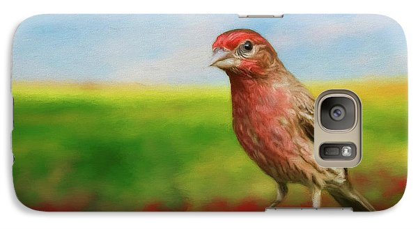 Galaxy Case featuring the photograph House Finch by Steven Richardson