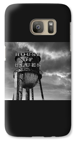 Galaxy Case featuring the photograph House Of Blues B/w by Laura Fasulo