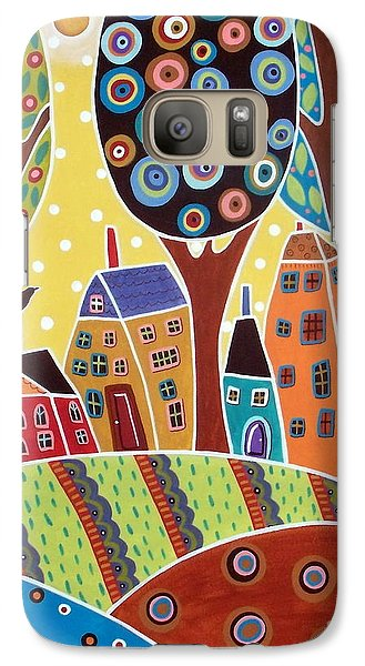 Houses Barn Landscape Galaxy S7 Case