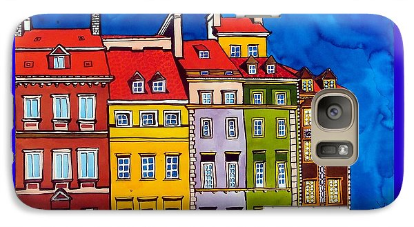 Galaxy Case featuring the painting Houses In The Oldtown Of Warsaw by Dora Hathazi Mendes