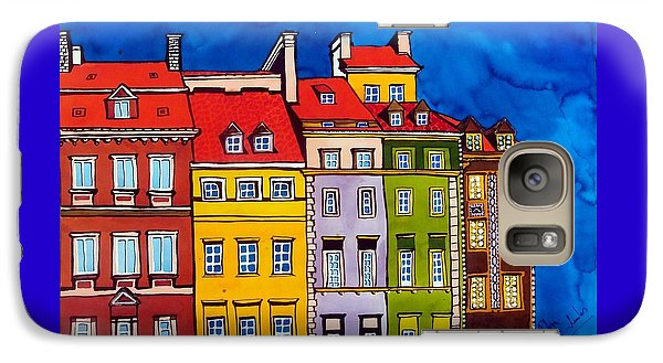 Houses In The Oldtown Of Warsaw Galaxy S7 Case by Dora Hathazi Mendes