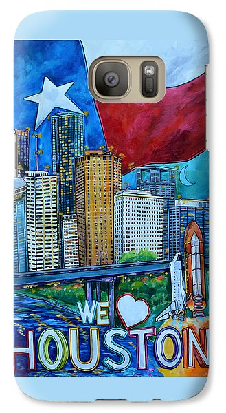 Galaxy Case featuring the painting Houston Montage by Patti Schermerhorn