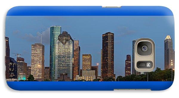 Galaxy Case featuring the photograph Houston Skyline Panorama by Jonathan Davison