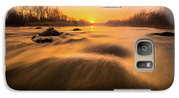 Galaxy Case featuring the photograph Hovering Over The River by Davorin Mance