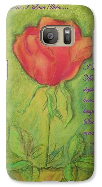 Galaxy Case featuring the drawing How Do I Love Thee ? by Denise Fulmer