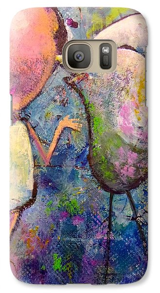 Galaxy Case featuring the painting How I Learned To Sing by Eleatta Diver