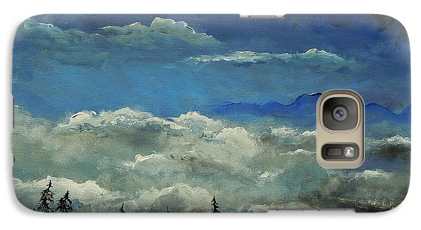 Galaxy Case featuring the painting How Majestic Is Your Name by Dan Whittemore