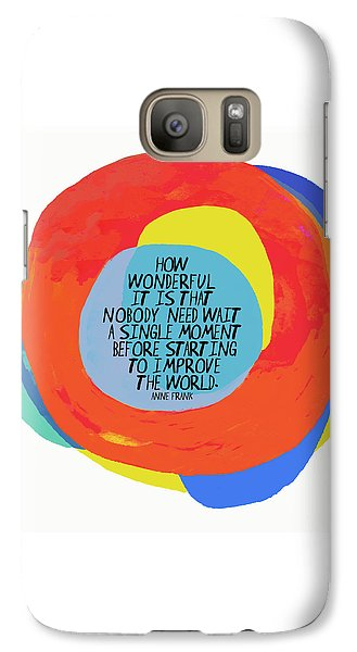 Galaxy Case featuring the painting How Wonderful by Lisa Weedn