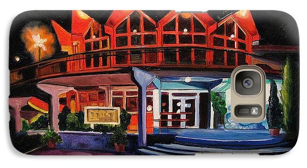 Galaxy Case featuring the painting Howard Johnsons At Night by Patricia Arroyo