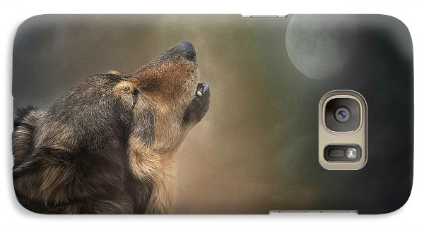 Howling At The Moon Galaxy S7 Case