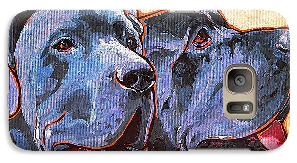 Galaxy Case featuring the painting Howy And Iloy by Nadi Spencer