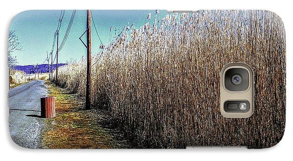Hudson River Winter Walk Galaxy S7 Case