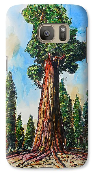 Galaxy Case featuring the painting Huge Redwood Tree by Terry Banderas