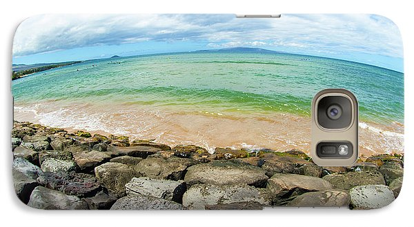 Galaxy Case featuring the photograph Huge Wikiki Beach by Micah May