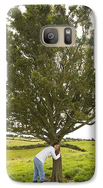 Galaxy Case featuring the photograph Hugging The Fairy Tree In Ireland by Ian Middleton