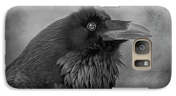 Galaxy Case featuring the photograph Huginn... by Nina Stavlund