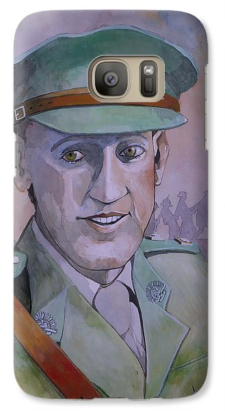 Galaxy Case featuring the painting Hugo Throssel Vc by Ray Agius
