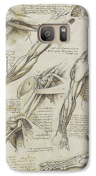 Galaxy Case featuring the painting Human Arm Study by James Christopher Hill