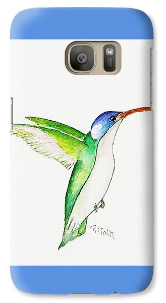 Galaxy Case featuring the painting Hummer by Patricia Piffath