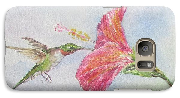 Galaxy Case featuring the painting Hummingbird 1 by Gloria Turner
