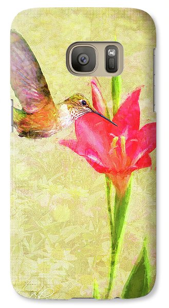 Galaxy Case featuring the digital art Hummingbird And Flower by Christina Lihani