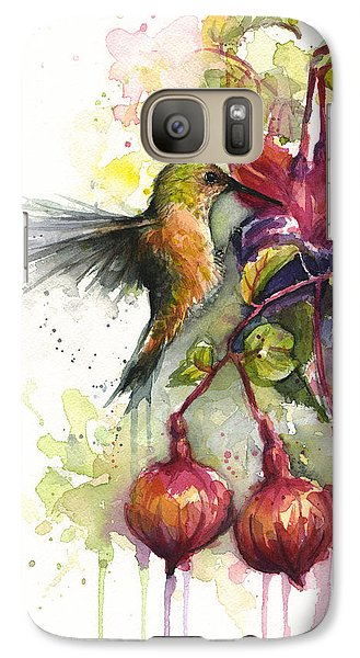 Hummingbird And Fuchsia Galaxy S7 Case by Olga Shvartsur