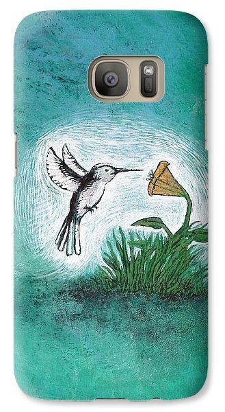 Galaxy Case featuring the painting Hummingbird by Antonio Romero