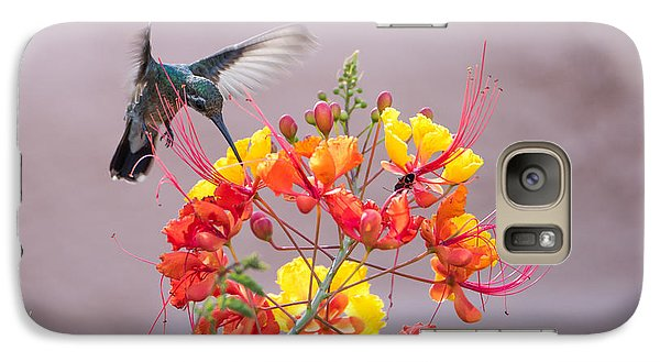 Galaxy Case featuring the photograph Hummingbird At Work by Dan McManus
