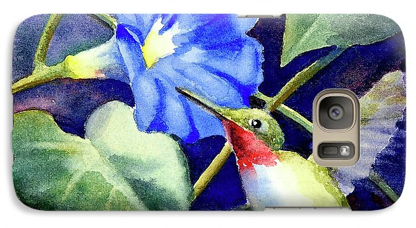 Galaxy Case featuring the painting Hummingbird Delight by Bonnie Rinier