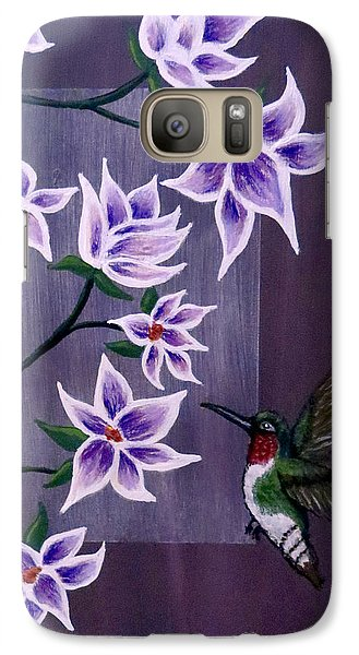 Hummingbird Delight Galaxy S7 Case by Teresa Wing