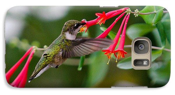 Galaxy Case featuring the photograph Hummingbird Feeding by Gary Wightman