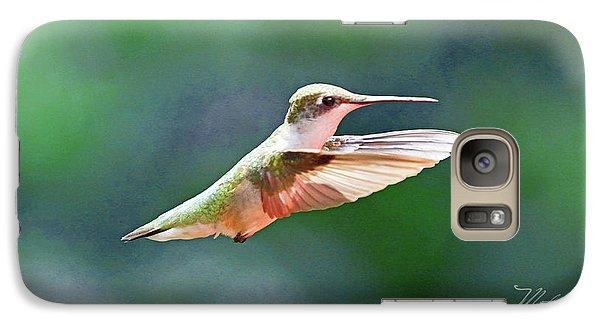 Galaxy Case featuring the photograph Hummingbird Flying by Meta Gatschenberger