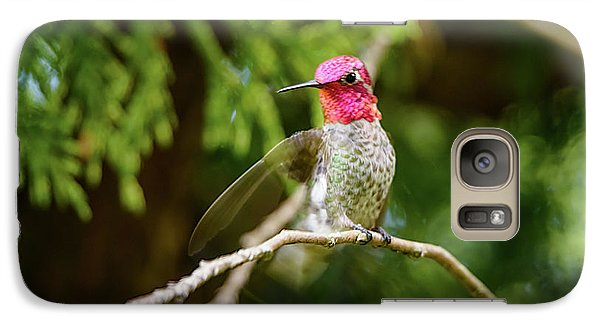 Galaxy Case featuring the photograph Hummingbird Gorget by Kathy King